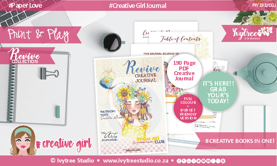 PP/193/CGJ - Revive Collection - CREATIVE GIRL JOURNAL - A WOW BARGAIN!!