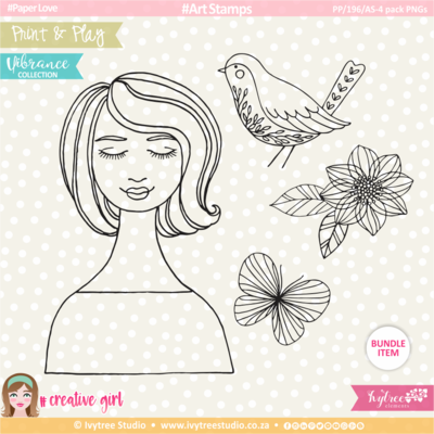 PP/196/AS-4pk - Print&Play - Art Stamps (4 pack PNG's) - Vibrance Collection