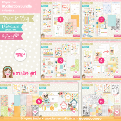 PP/196/CB - Print&Play - Collection Bundle (Eng/Afr) - Vibrance Collection (WOW SAVINGS in the bundle!!!)