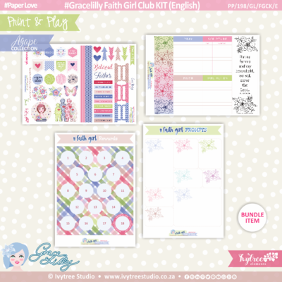 PP/198/GL/FGCK - Print&Play - Gracelilly Faith Girl Club KIT (Eng/Afr) - OurStory Collection