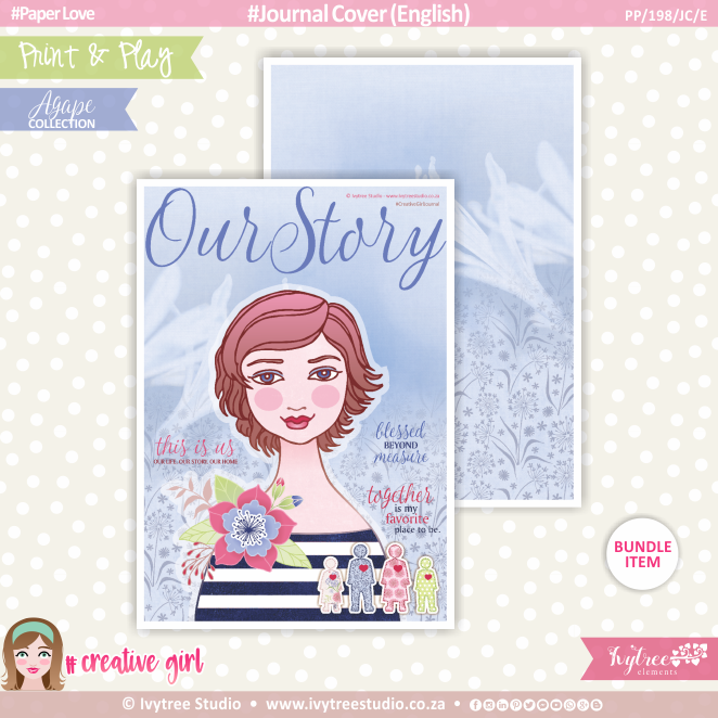 PP/198/JC - Print&Play - Journal Cover (Eng/Afr) - OurStory Collection