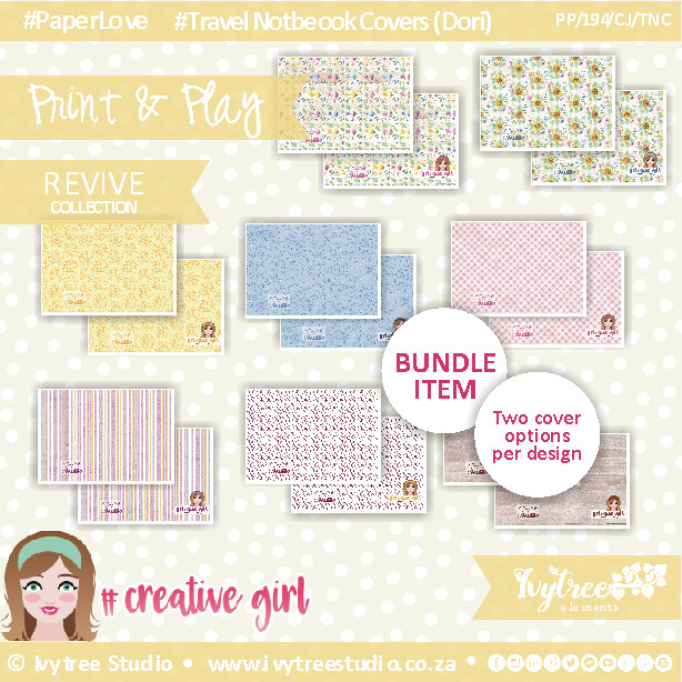 PP/193/CJ/TNC/9 - CREATIVE JOURNAL - Travel Notebook Cover (Dori) Set (incl. Updated Tutorial with New templates) NEW