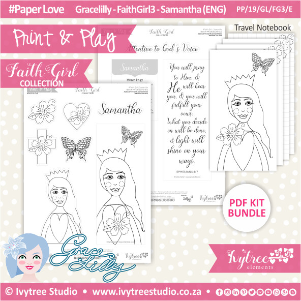 PP 19 GL FG3 KIT - Print&Play - #FaithGirl KIT - Samantha