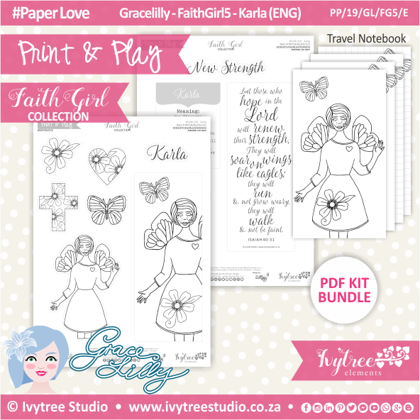 PP 19 GL FG5 KIT - Print&Play - #FaithGirl KIT - Karla