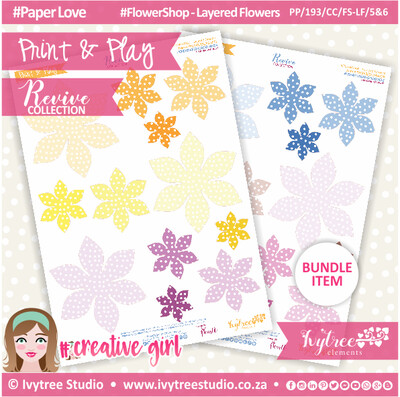 PP/193/CC/FS-LF/5&6 - Print&Play - CUTE CUTS - Flower Shop-Layered Flowers - Revive Collection