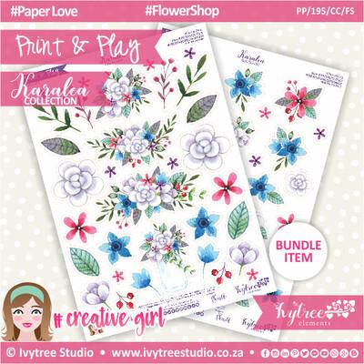 PP/195/CC/FS - Print&Play - CUTE CUTS - Flower Shop - Karalea Collection
