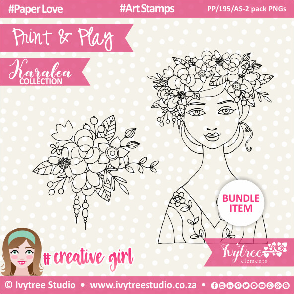 PP/195/AS-2pk - Print&Play - Art Stamps (2 pack PNG's) - Karalea Collection