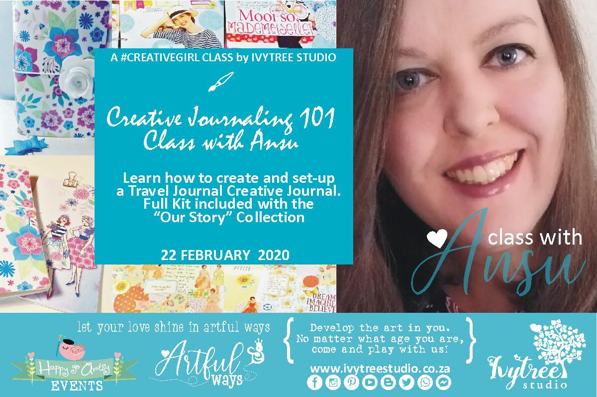 #ClubCreativegirl Journaling Monthly Class with Ansu - Next class: 18 July 2020  9:00-12:00AM