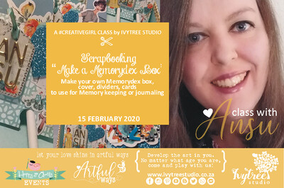 Creativegirl Scrapbooking Online Class with Ansu - Make your own Memory Dex Box  - 11 July 2020 9:00-12:00AM