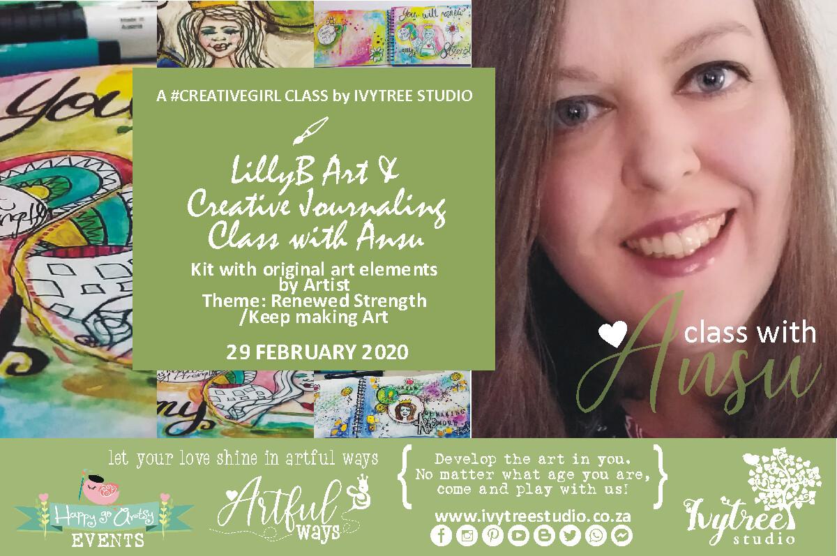 LillyB Art Journaling Monthly Class with Ansu - Next Class: 20 July 2020 9:00-12:00 AM