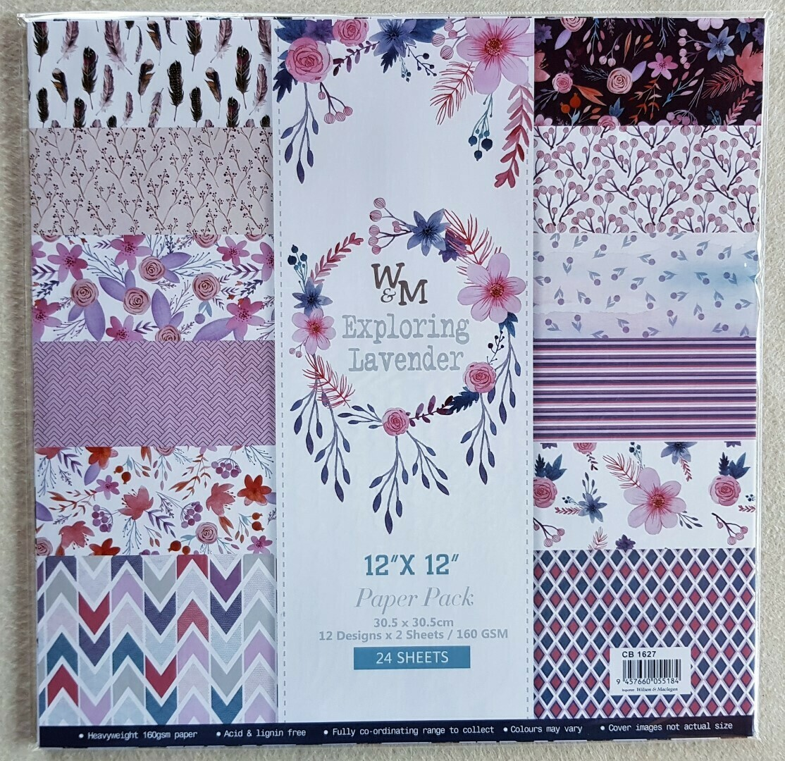 Paperlove packs by W&M (Amazing value!)- 8 packs to choose from, nearly a 100 designs. Select from options menu - (Pre-Order)