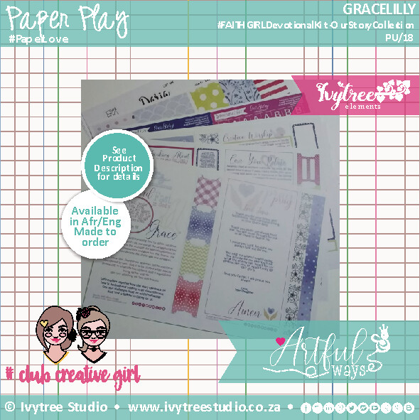 Gracelilly Devotional Kit - Stand on Grace (Matches with Our Story Print&Play Collection) (Pre-Order) English/Afrikaans