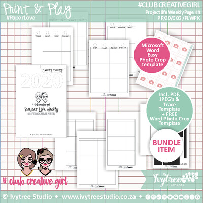 #ClubCreativeGirl Project Life Weekly 2020 Kit