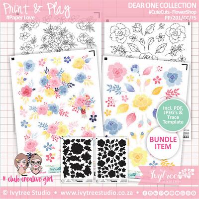 PP/201/CC/FS - Print&Play - CUTE CUTS - Flower Shop - Dear One Collection