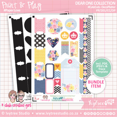 PP/201/CC/DP - Print&Play - CUTECUTS - Deco Platter - Dear One Collection