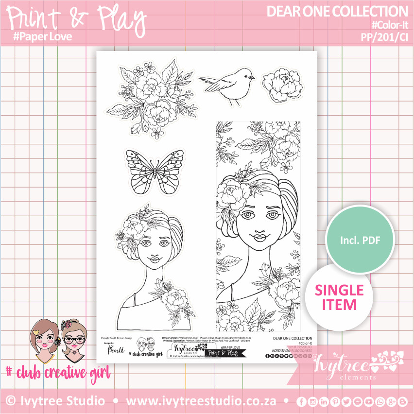 PP/201/CI - Print&Play - Color-It - Dear One Collection