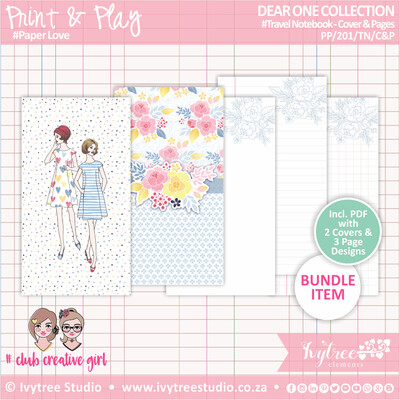 PP/201/TN/C&P - Print&Play - Travel Notebook - Cover&Pages - Dear One Collection
