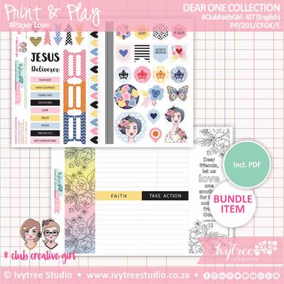 PP/201/CFGK - Print&Play - Club Faith Girl KIT (Eng/Afr) - Dear One Collection