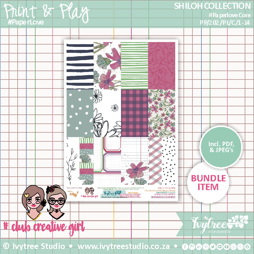 PP/202/PL - Print&Play - SHILOH COLLECTION - Paperlove