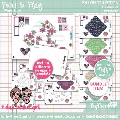PP/202/EK - Print&Play - SHILOH COLLECTION - Envelope Kit (21 page kit) NEW!