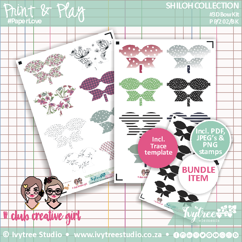 PP/202/BK - Print&Play - SHILOH COLLECTION - #3D Bow Kit - NEW!