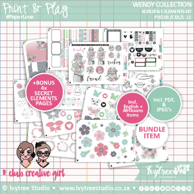 #PP/203/CE - PRINT&PLAY - Wendy Collection - Creative Elements kit