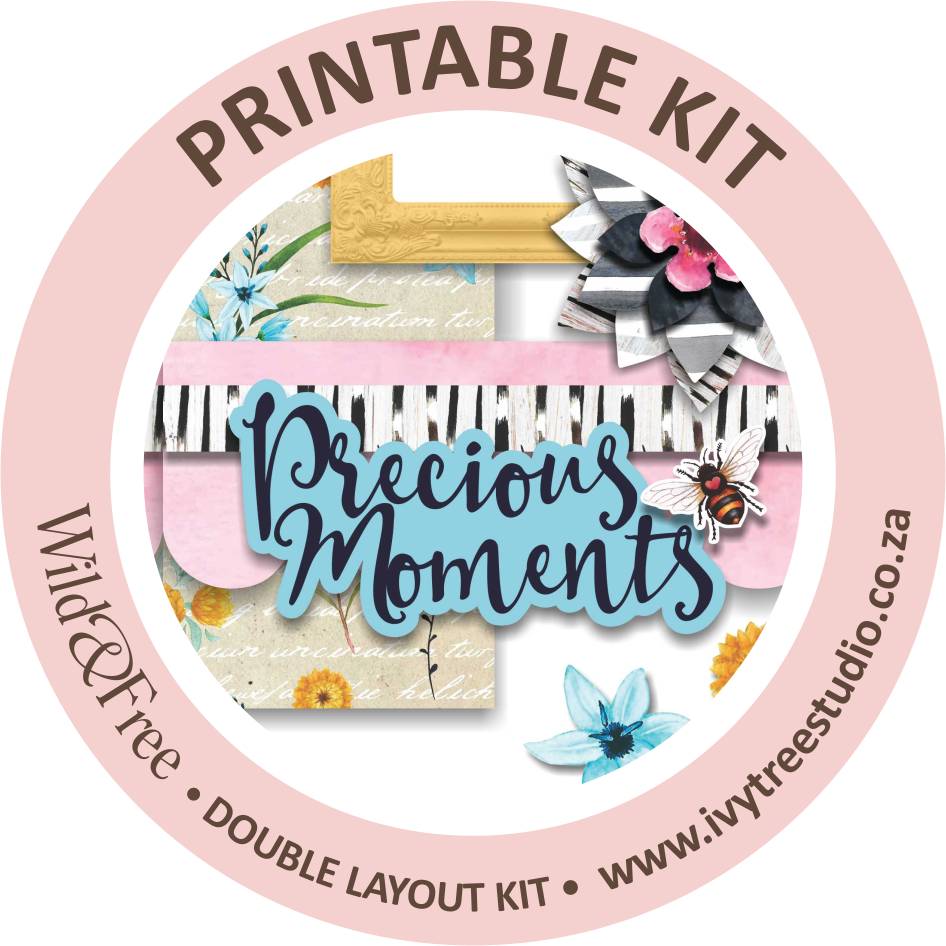 """""""Precious Moments"""" Printable Double Layout Sketch & Kit"""