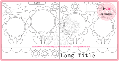 Double Layout Sketch & Template Pieces (Lollipop Parade)