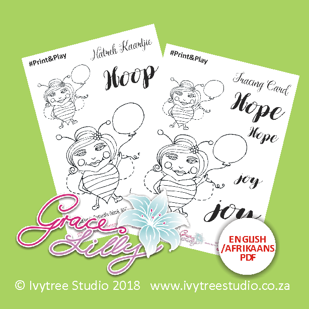 """""""Hope"""" - Tracing Card (Printable PDF; Afr+Eng version included) PRINT&PLAY"""