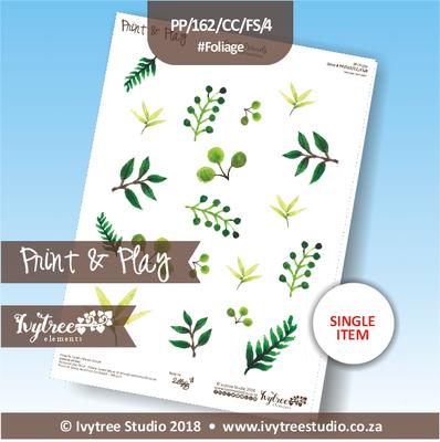 PP/162/CC/FS/4 - Print&Play Heart Friends - Cute Cuts - FLOWER SHOP - Foliage