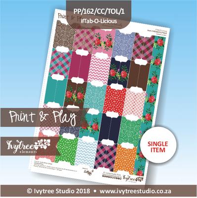 PP/162/CC/TOL - Print&Play Heart Friends - Cute Cuts - Tab-O-Licious
