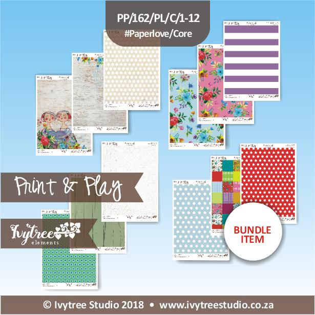 PP/162/PL/C - Print&Play - Heart Friends Paperlove Core bundle - (A4 x 12)