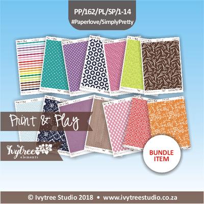 PP/162/PL/SP - Print&Play - Heart Friends Paperlove Simply Pretty bundle - (A4 x 14)