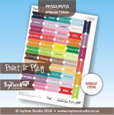 PP/162/PI/T/E - Print&Play Heart Friends - PLAN IT! - Planner Tickets