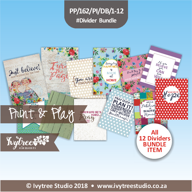 PP/162/PI/D - Print&Play Heart Friends - PLAN IT! - Dividers/Posters Bundle