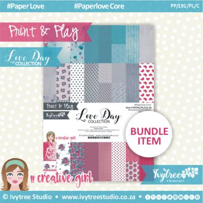 PP/191/PL/C - Print&Play - Love Day Paperlove Core bundle - (A4 x 24)