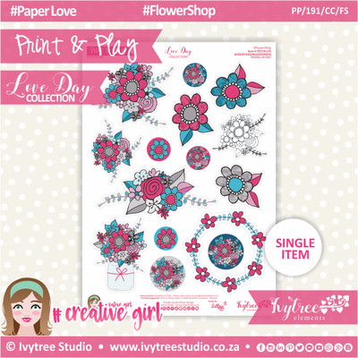 PP/191/CC/FS - Print&Play - CUTE CUTS - Flower Shop - Love Day Collection