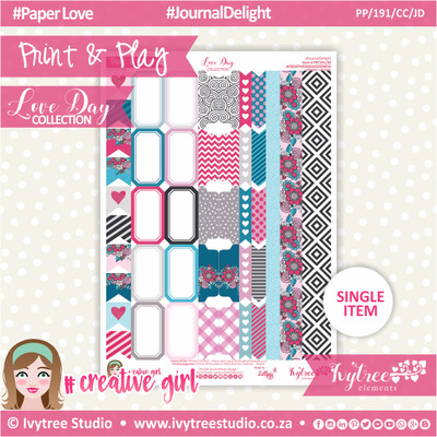 PP/191/CC/JD - Print&Play - CUTE CUTS - Journal Delight - Love Day Collection