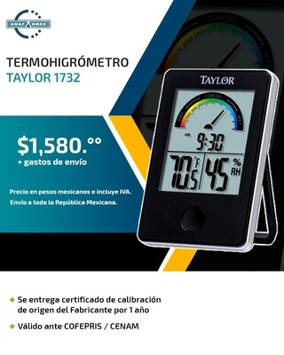 Termohigrómetro Taylor 1732