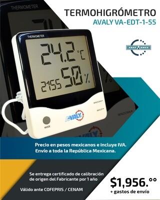 Termohigrómetro Digital Avaly