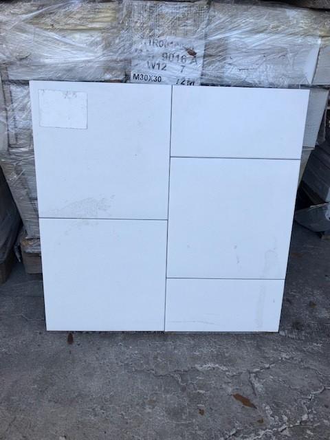 12x12 White Tile