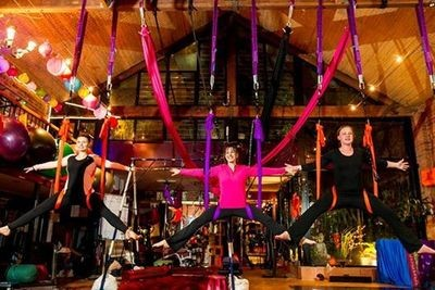 Aerial Yoga Private for 30 minutes $57.55, or 1 hour $110 ( not to be used for group classes)