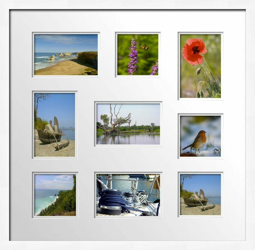 White Photo Frame for 9 photos