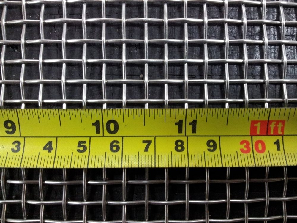 Stainless woven 4 mesh: 4.75mm aperture SS4M16GW1.22L1