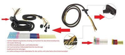 SenCom Kabelbaum Reparatursatz BMW E61 Heckklappe komplett links+rechts+Antennenleitung