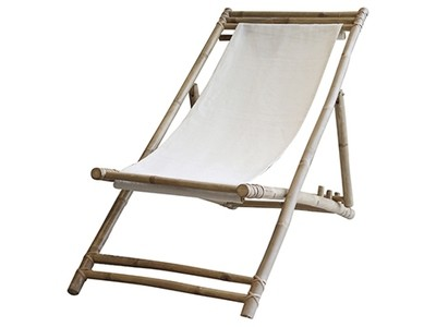 Lyon Deck Chair with linen bamboo