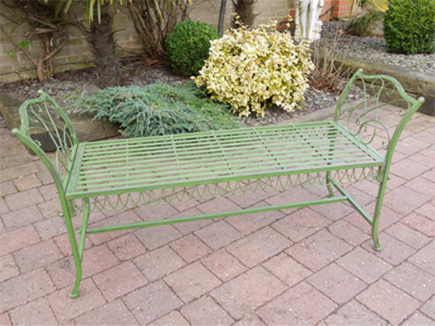 The Grace Garden Seat Antique Green