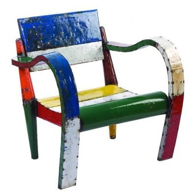 Recycled Low Lounger Chair