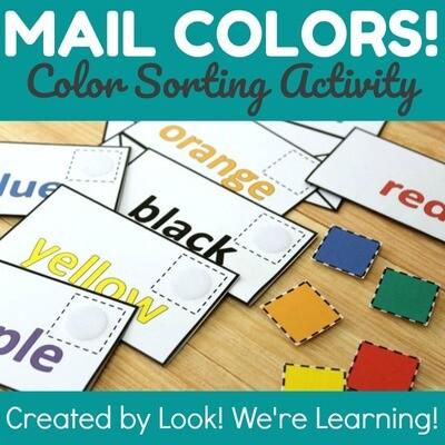 Multicolor Mail! Preschool Color Sorting Activity