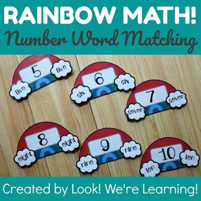 Rainbow Number Word Puzzles